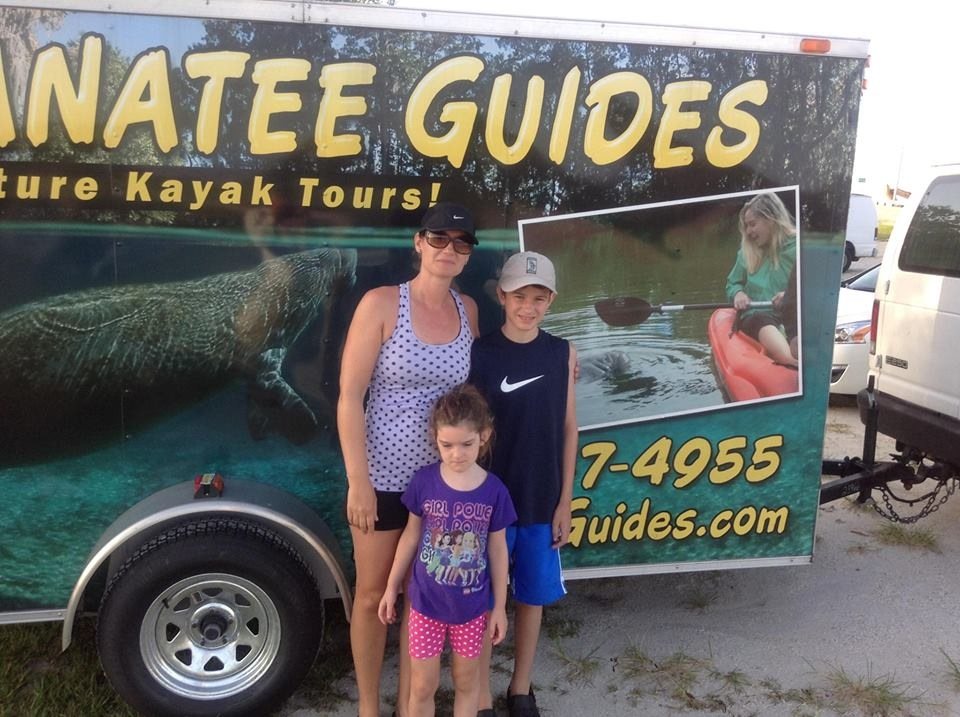 Manatees, Manatee Guides, trailer wrap, kayaks,