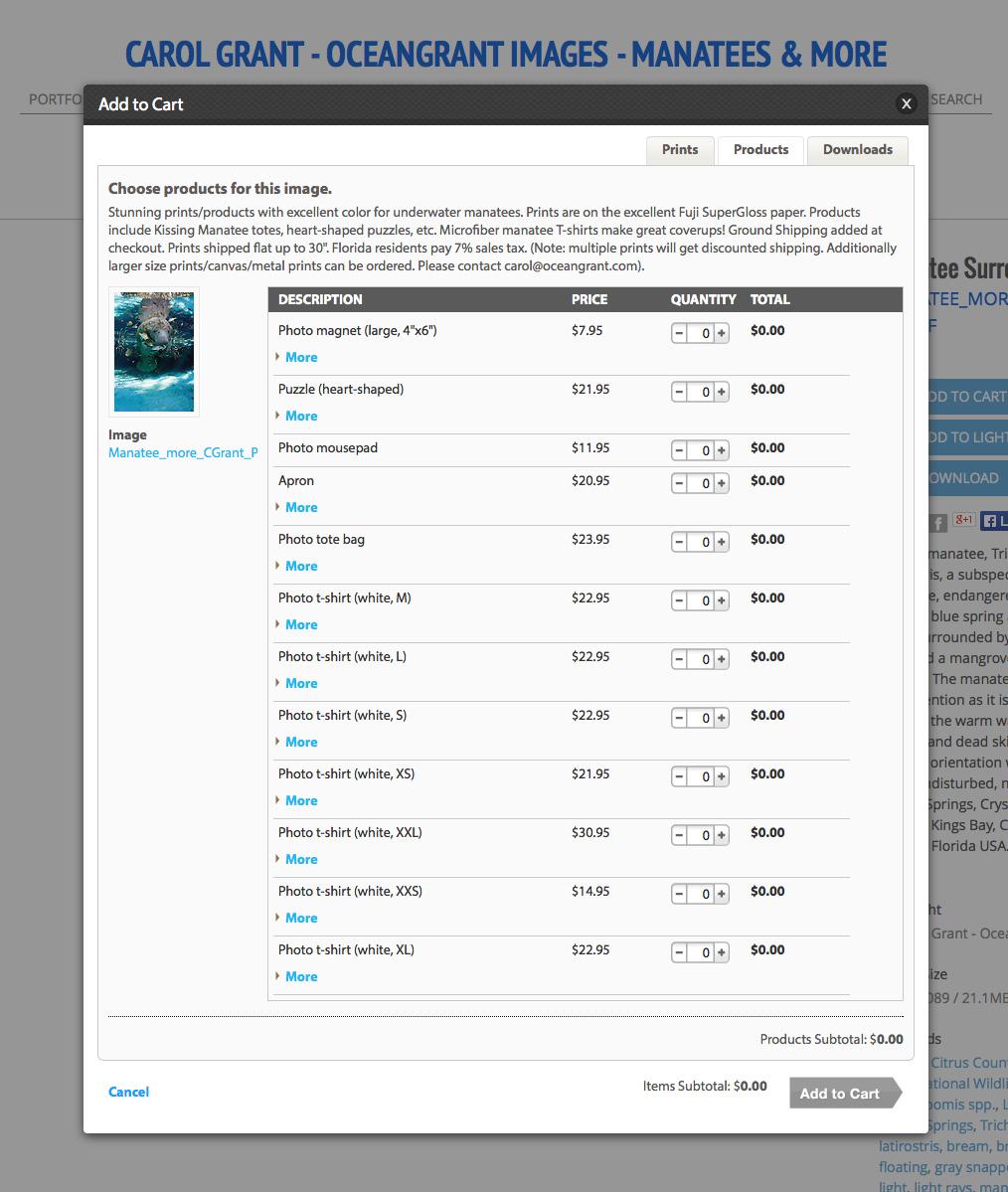 Oceangrant.com Print Products