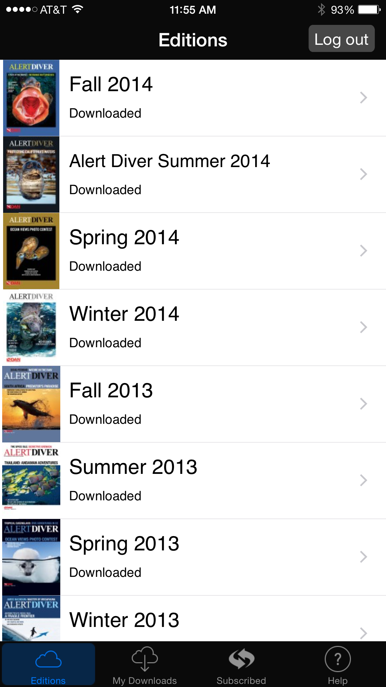 Alert Diver, screenshot, app, iPhone 6 plus,