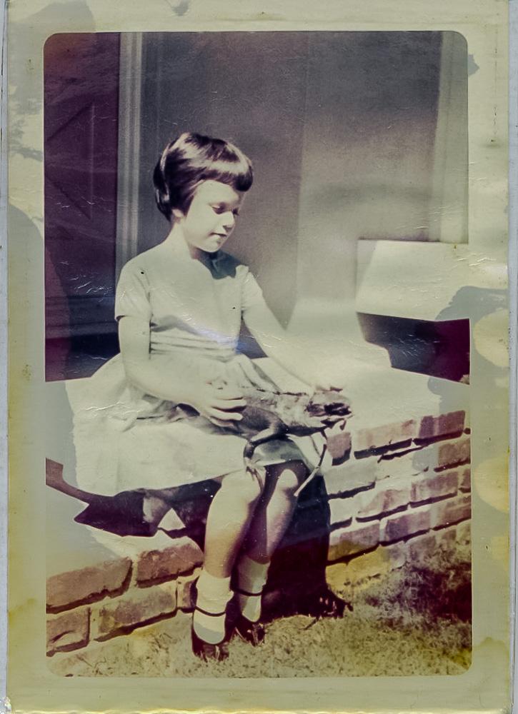 Carol with Iguana 1963