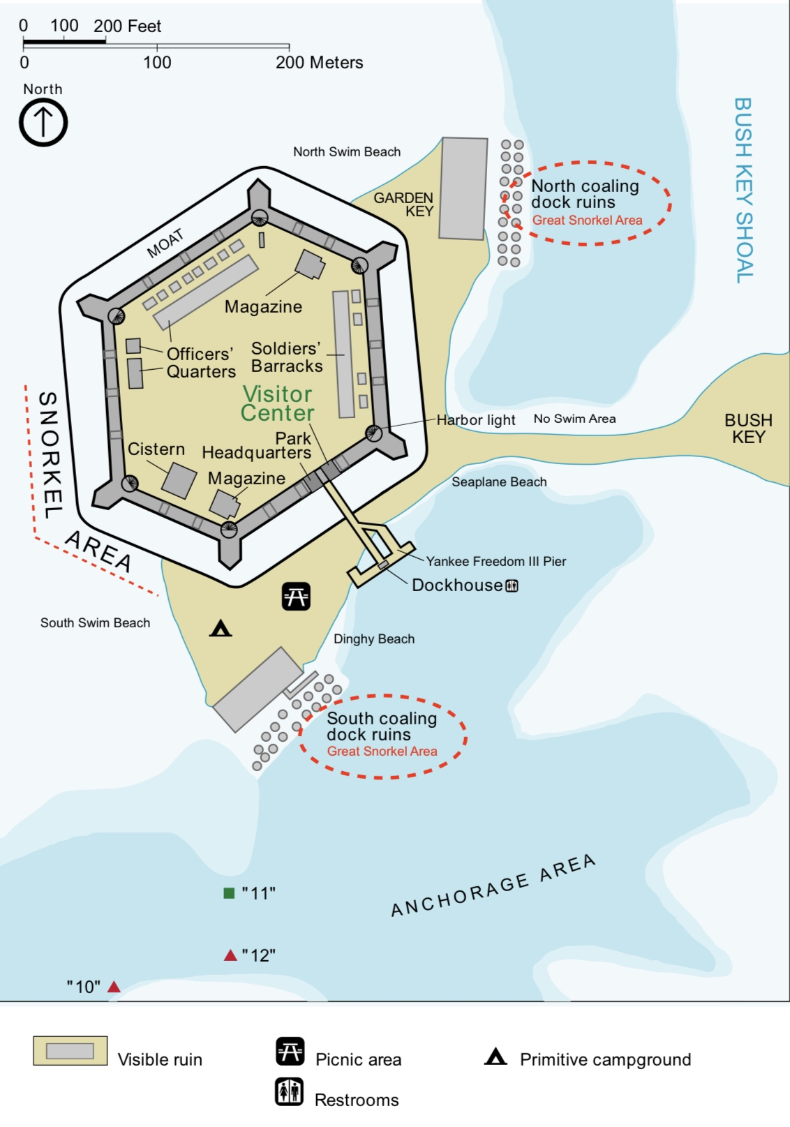 Map of Ft Jefferson-National Park Service