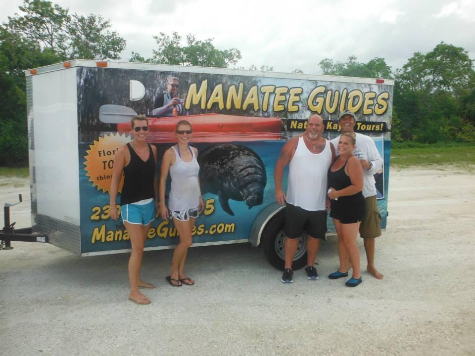 Manatees, Manatee Guides, trailer wrap, kayaks,