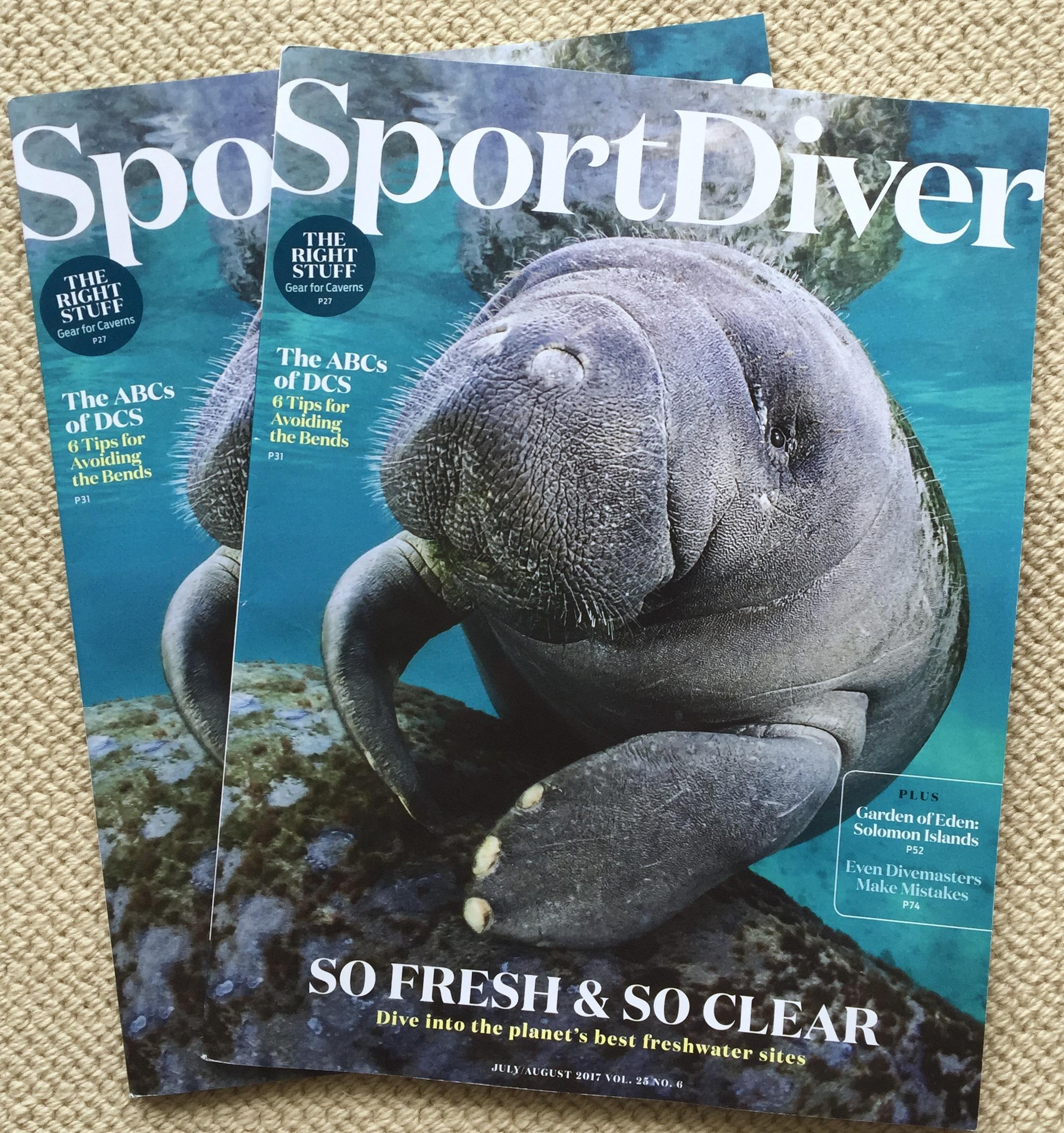 Sport Diver Magazine, manatee,Carol Grant